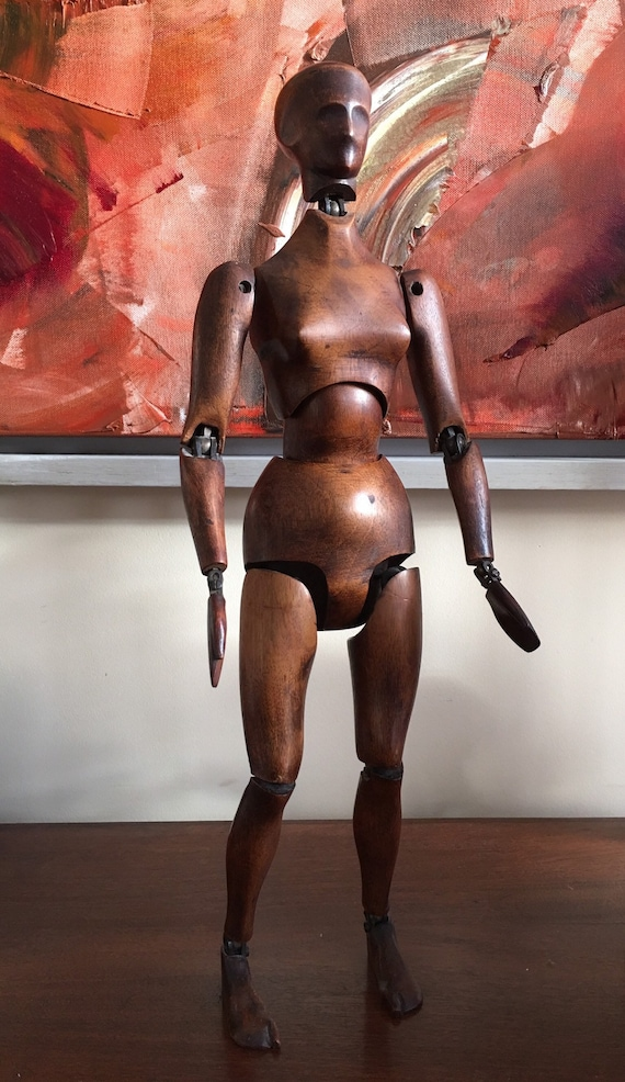 Very rare French female artists lay figure circa 1900