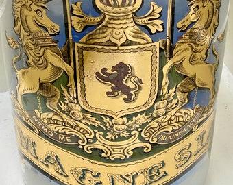 Late 19th century Apothecary pharmacy chemist glass jar