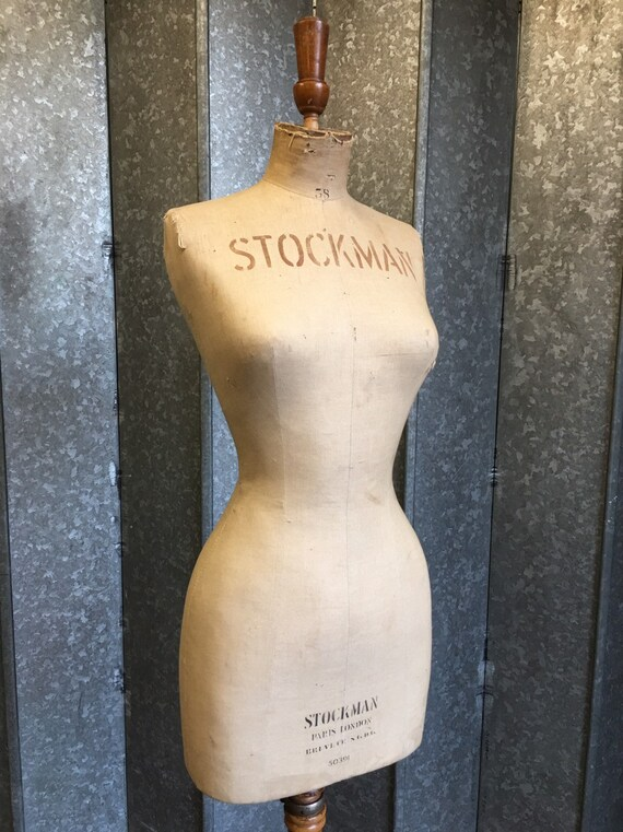 Stockman French dressmakers female dummy circa 1910 size 38 model 50391