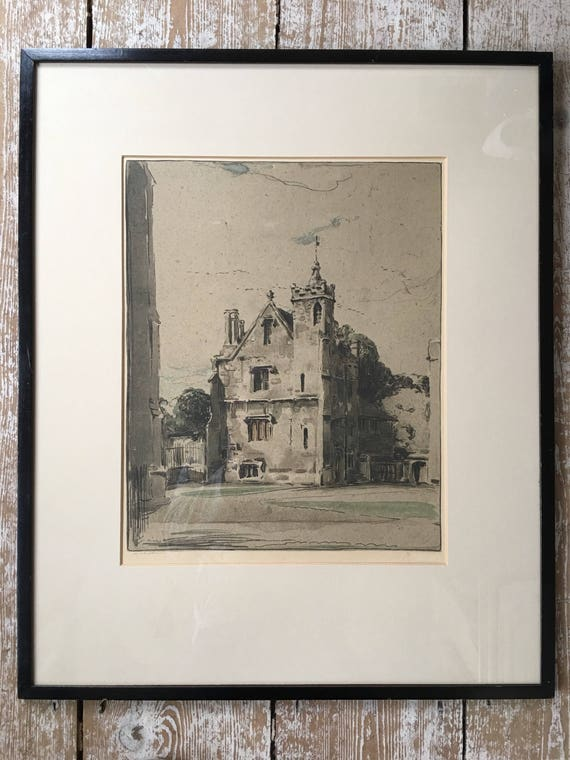 Sir William Nicholson (1872-1949) lithograph Oxford series for the Stafford gallery, signed and stamped 1905