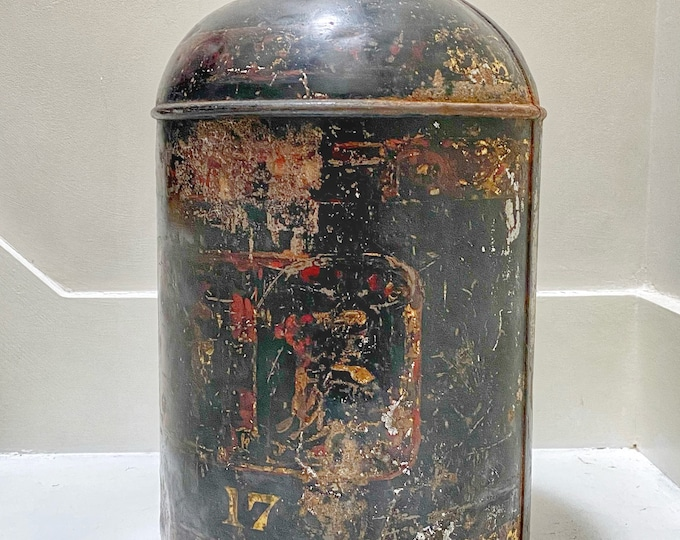 Antique Georgian Chinese shop tea canister