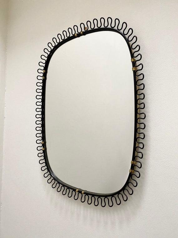 Vintage Swedish Josef Frank for Svenskt Tenn black loop frame mirror