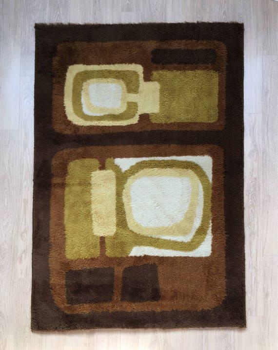 Mid century Desso rug model Alhambra wool blend geometric design 180 x 125 cm