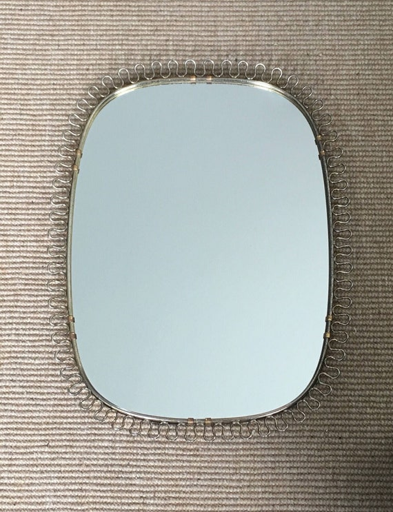 Vintage Swedish Josef Frank for Svenskt Tenn brass loop frame mirror