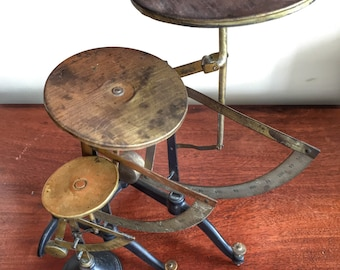 Antique Dutch post office letter weighing scales group of three