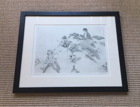Sir William Orpen RA RI RHA (1878-1931) 'The Yacht race' Dublin bay 1913 photogravure signed in plate