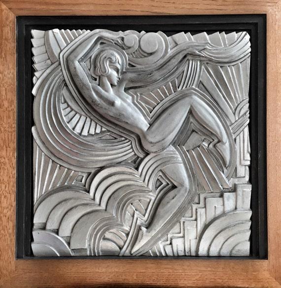 Maurice Picaud (Pico) gesso plaster cast of Lila Nikolska Folie Bergeres dancer Art Deco masterpiece