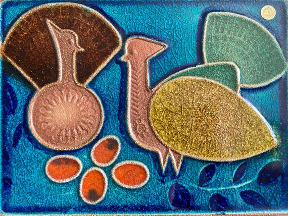 Mid century Danish SØHOLM wall plaque by Josef Simon in Bornholm circa 1970