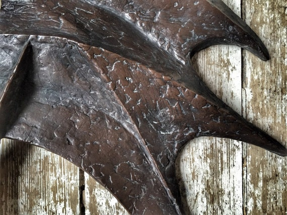 Abstract modernist fibreglass wall artwork sculpture by Joy Stewart