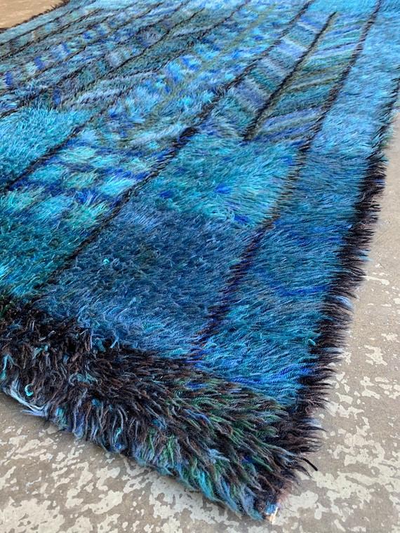 Marianne Richter ryamatta 'Kolmården' in wool by Wahlbecks Fabriker, Linköping.
