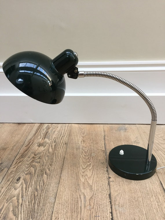 Christian Dell design bauhaus lamp Koranda German made dark green