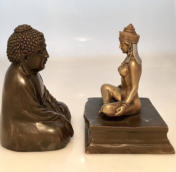Bergmann Namgreb cold painted bronze Buddha containing erotic bodhisattva