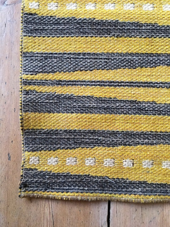 Vintage Swedish reversible flatweave Kelim rolakan in the style of Ingrid Dessau size 230 x 155 cm