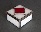 Beautiful little glass box made using the Tiffany copper foil technique.