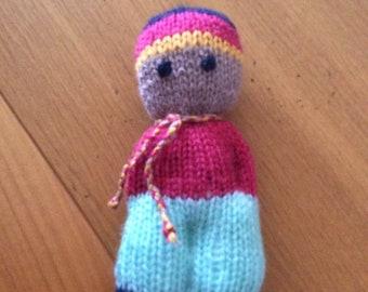 1075f9a75aea Poupée doudou ,marionette ..tricot fait main laine acrylique