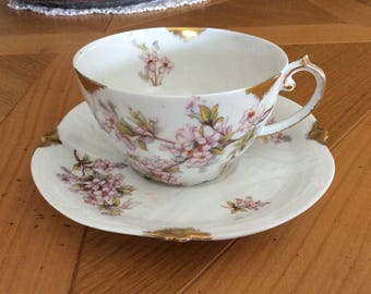 Cup and saucer French vintage Limoges france