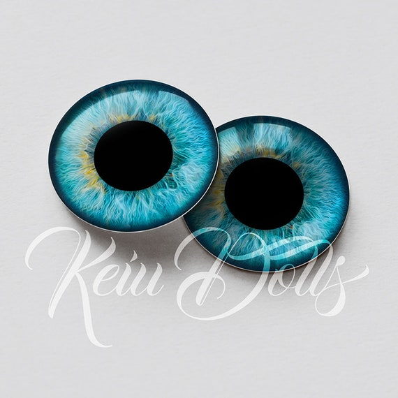 Blythe HD Realistic Shine Eyechips High Definition /& Perfect Fit Glass Eye Chips by KeiuDolls B-12
