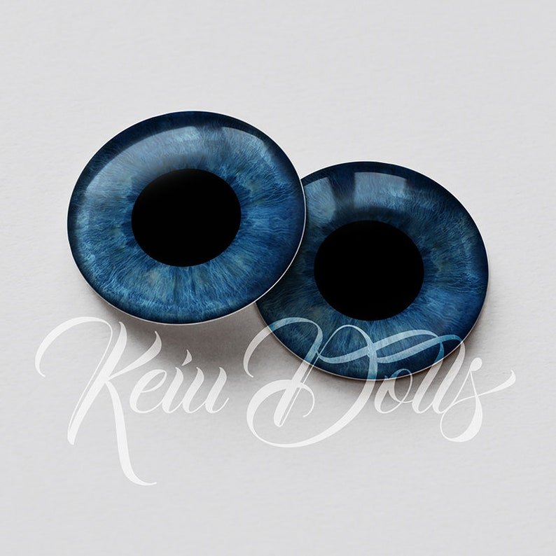 High Definition /& Perfect Fit Glass Eye Chips by KeiuDolls B-16 Blythe HD Realistic Shine Eyechips