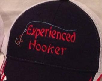 Fishing Hats  Old Hooker  Weekend Hooker  Fathers Day Gift   Fishing Hat   Fishing Gifts   Fishing accessories  Experienced Hooker  Dad Hats
