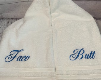 Butt Face Towel Etsy