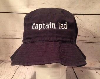 b4a6bf94aafa4 Bucket Hat Custom Text Embroidered Bucket Hats Personalized Bucket Hats  Vacationer hat Custom Text Custom hat Beach hat sun hat