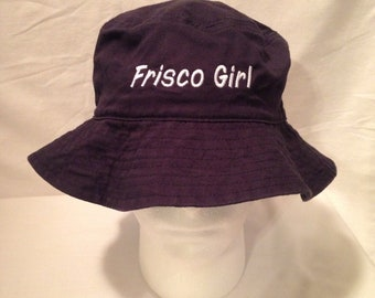 Bucket Hat Embroidered Bucket Hats Personalized Bucket Hats Vacationer hat  Custom Text Custom hat custom caps Beach hat sun hat bc6cf7de50b