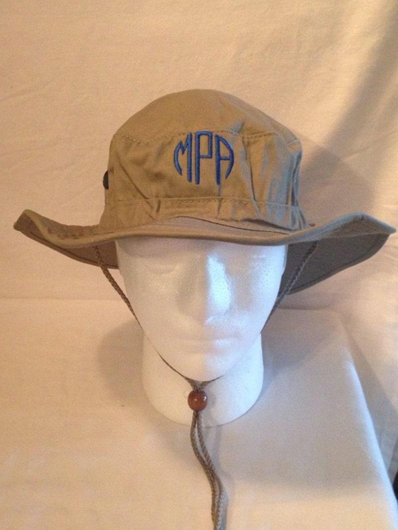 97da86273 Boonie Hat Monogram Hat Custom Embroidery sun hat custom text camping hat  canoeing hat floating hat kayak hat hiking hat