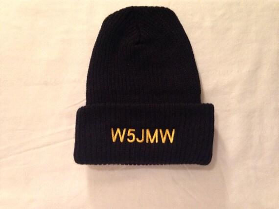 ca9d0858fdde6 Ham Radio Callsign hats Beanie Hats Custom Text