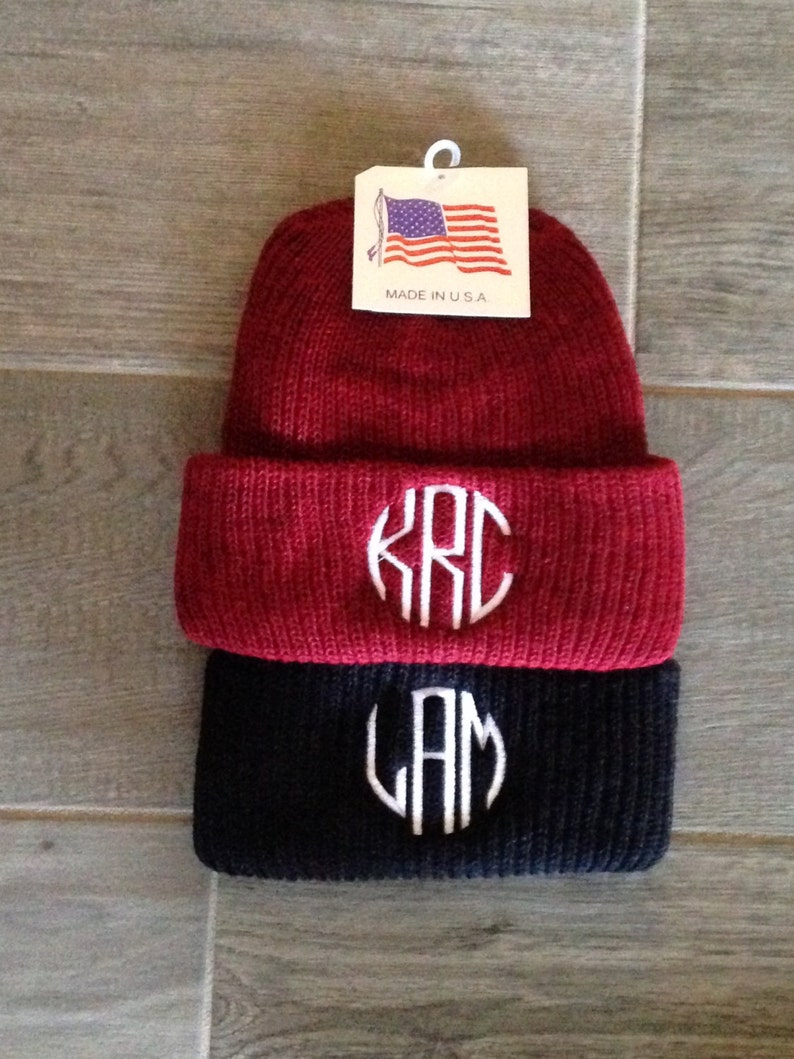 2e3f5797fc7923 Beanie 275 Personalized Knit Beanie caps Embroidered Beanie | Etsy