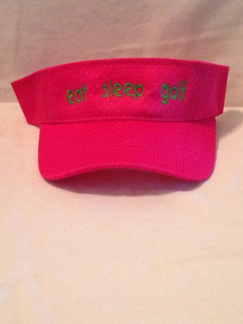 Embroidered Youth Visor Custom Text Embroidered Visors Embroidered Hats Personalized Visors Personalized Hats Golf Visors