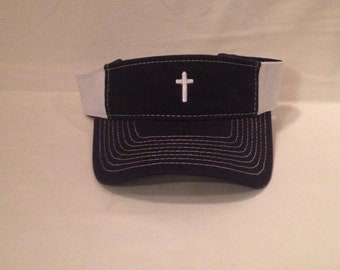 Visors    Cross Visor    Embroidered Visors   Mothers Day    Fathers Day   Graduation Gifts    custom embroidery   crosses   church camp hat