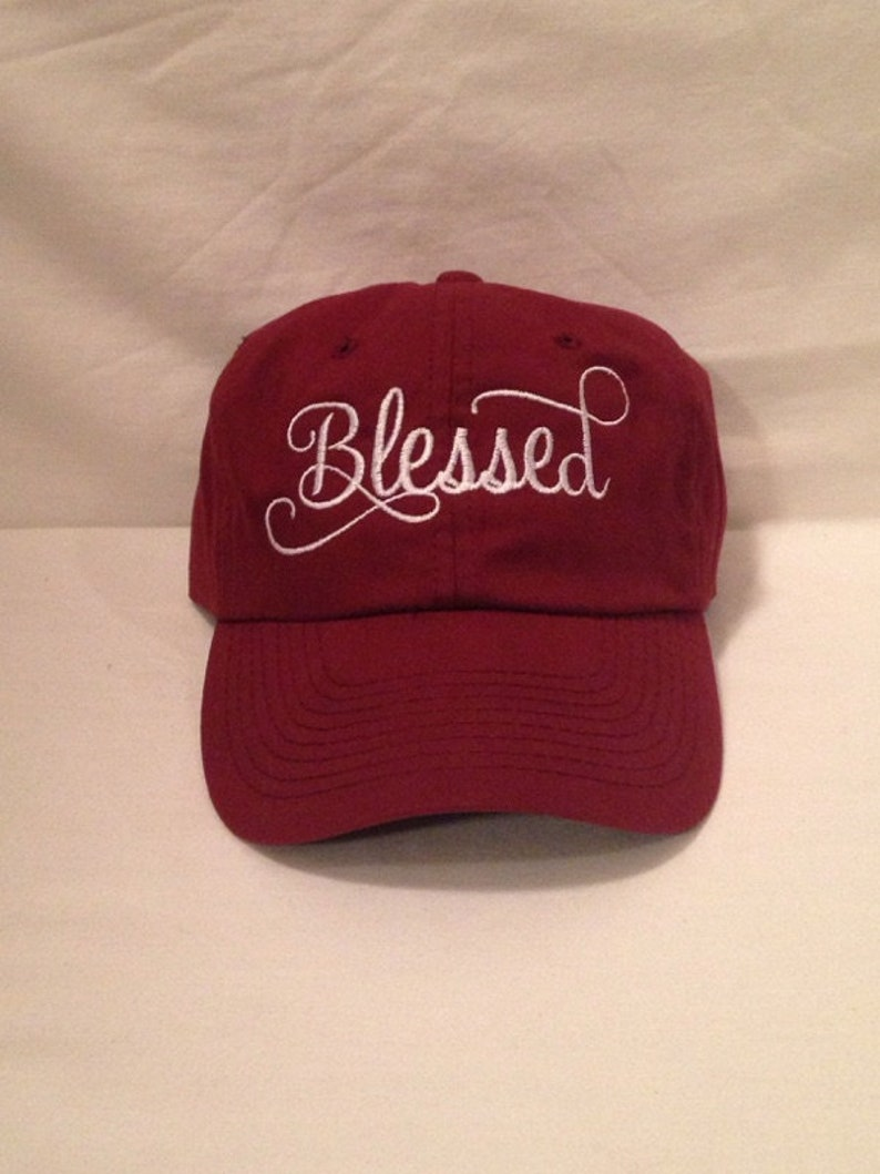 Blessed Embroidered Hat Blessed Embroidered Caps Embroidered Hats  Embroidery Custom gifts custom hats custom caps Blessed hat