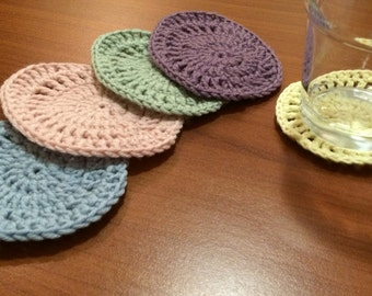 Egg shaped Easter coaster crochet pattern pdf