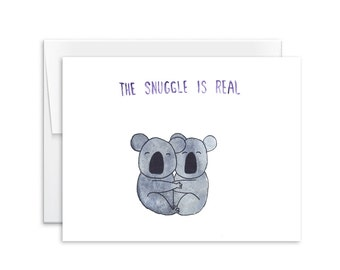 Koala card etsy love card the snuggle is real koalas card greeting card card for husband card for wife 160101 m4hsunfo