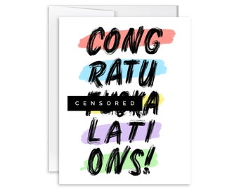 Congratuf***alations! - Congrats - Inappropriate Greeting Card - SM1801