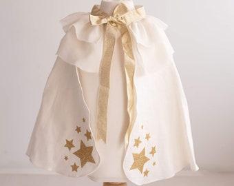 Rose Gold/ Gold/ Silver star linen Cape