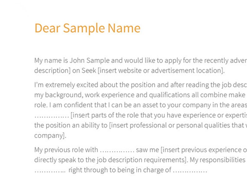 Modern Cover Letter Template \u2013 Networked