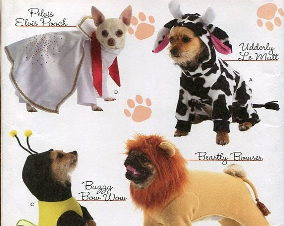 Costumes for Dogs Simplicity 2839 Sewing Pattern, Woofy Wear by Wendy, 4 great costumes/one pattern