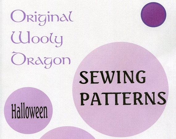 Sewing Patterns to make Halloween costumes and FUN Sold individualy, Priced individually