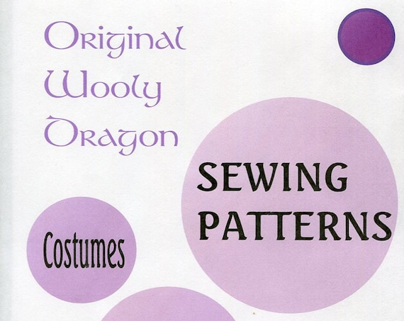 Sewing Patterns for Costumes for Cosplay, Renaissance, Halloween, Dress up, Fun  Sold by single pattern