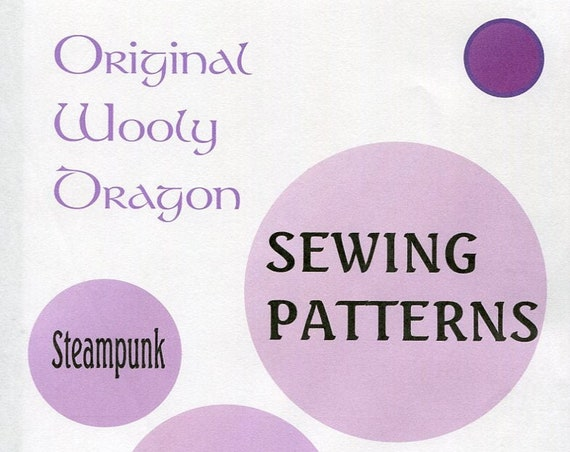 Sewing Patterns with a Steampunk Flair, Sold individually, Come Check them Out