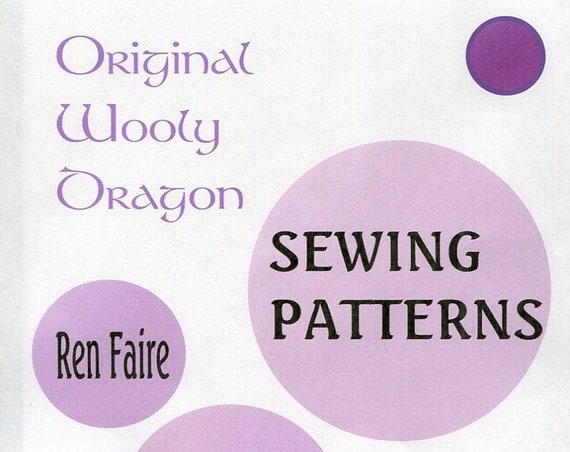 Sewing Patterns for Ren Faire, Medieval and Re-enactments Lots to choose from, many long out of date