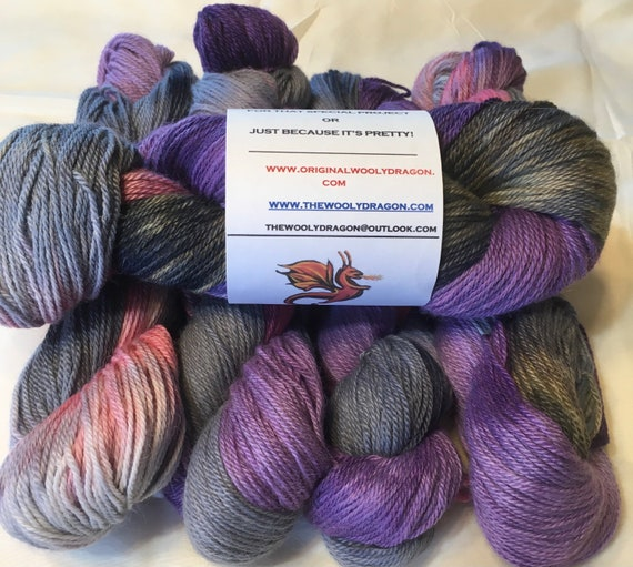 HAPPY MORTICIA Alpaca Yarn Indie Hand Painted Baby Alpaca- 5 Hanks Available, Choose Quantity at Checkout