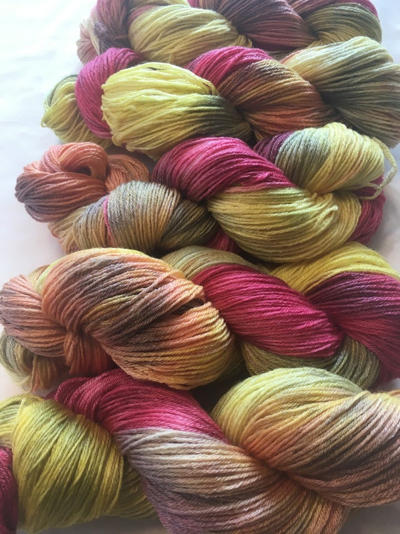 SOUTH BEACH Wool/Tencel Sock Yarn Indie Hand Painted Soft and Unique