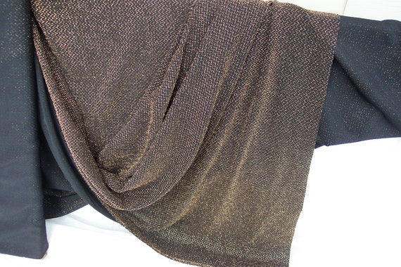 """Metallic Gold Knit fabric, 57""""/58"""" wide by 2 and 1/4 yard long, Poly/Noylon/Spandex. Gorgeous color movement"""