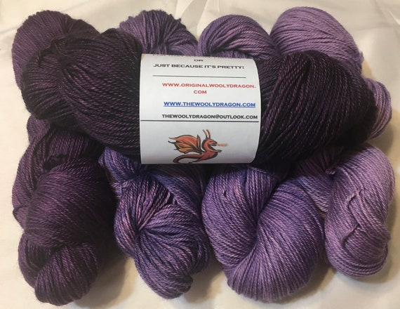 ROYAL DRAGON Color Fade Yarn 100% Baby Alpaca from Peru 5 skeins of Indie Kettle Dyed Beauty and Uniqueness