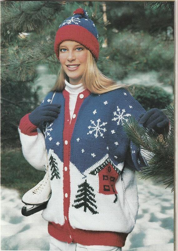 DIGITAL Winter Wonderland Sweater Pattern- Knitting