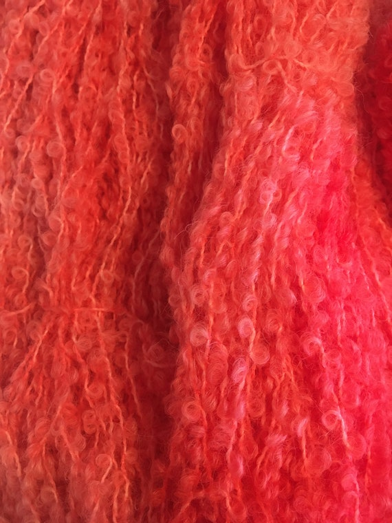 Pink Flamingo Boucle Yarn Fantastic blend of Alpaca,  Merino and Nylon for an Indie Kettle Dyed Unique Yarn that is so Soft
