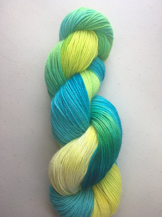 Sea Glass Alpaca Yarn Indie Hand Painted Baby Alpaca Soft and Unique