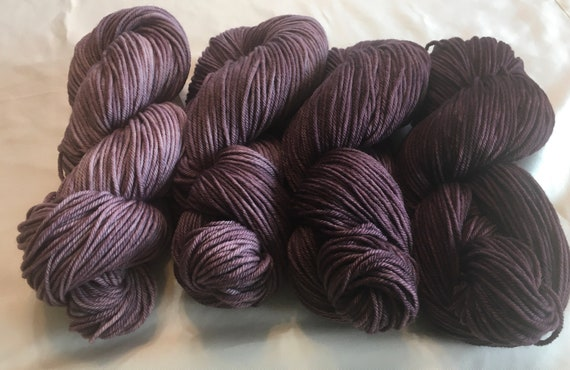 DRAGON'S WINE Color Fade Yarn 100% Organic Merino 4 skeins of Indie Kettle Dyed Beauty and Uniqueness